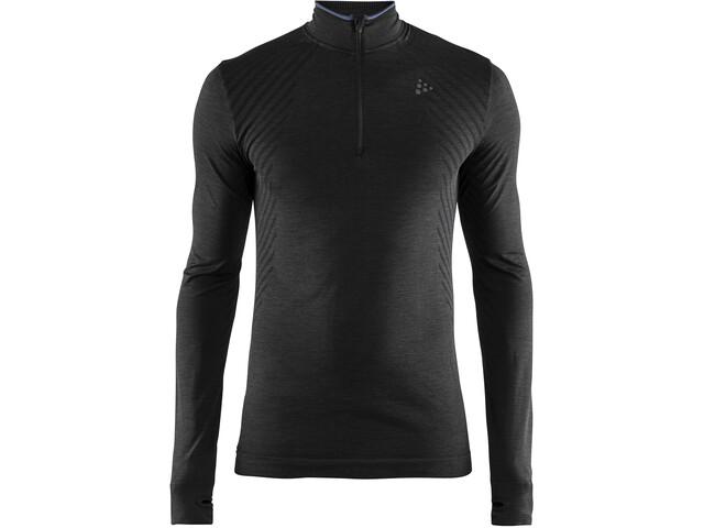 Craft Fuseknit Comfort Camiseta Cremallera Hombre, negro